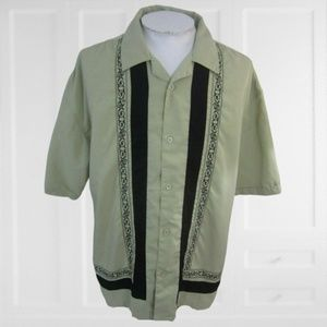 Montage vintage 1990s panel embroidered shirt 2XL